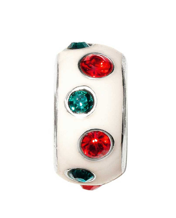 Brighton Sugar Dots Spacer JC4653 with jewel toned Swarovski crystals against white