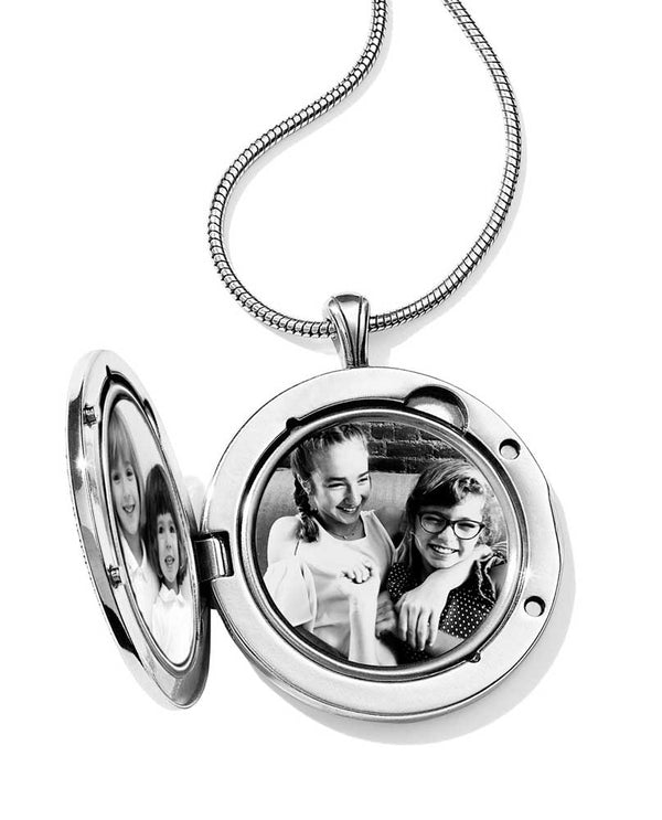 Inside of Black-Silver Brighton JL9223 Toledo Alto Noir Convertible Locket Necklace 2 photo slots