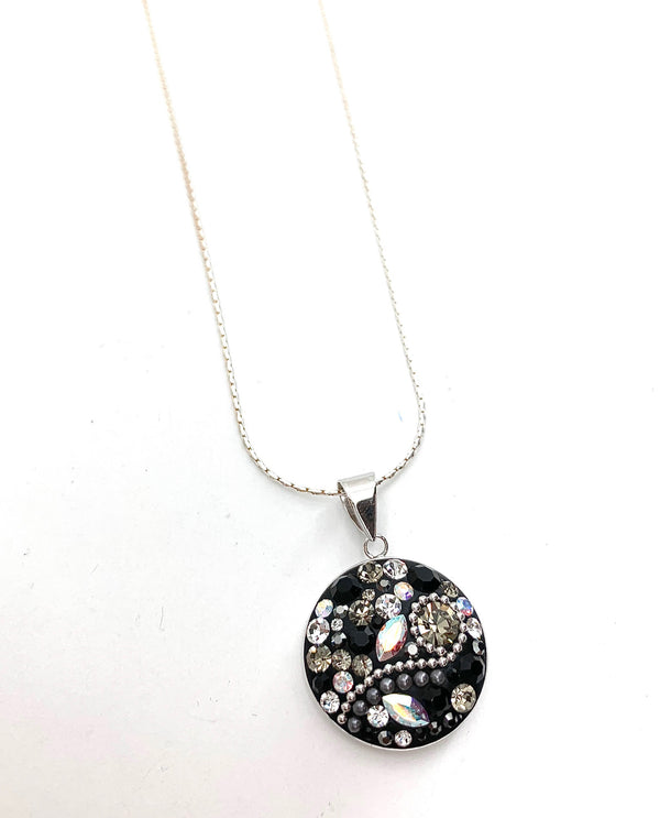 Mediterranean Artists SHPS2744 Sterling Silver Swarovski Necklace