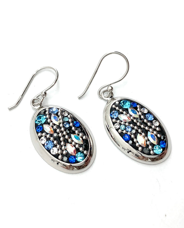 Mediterranean Artists SHEB3818SX Sterling Silver Blue Earrings