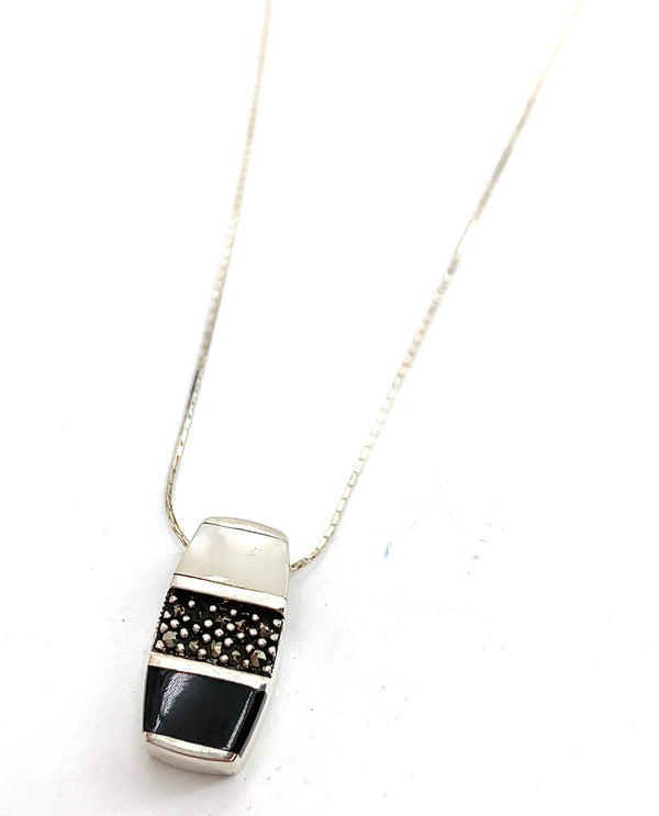 Sterling Silver Mosaic with Chain