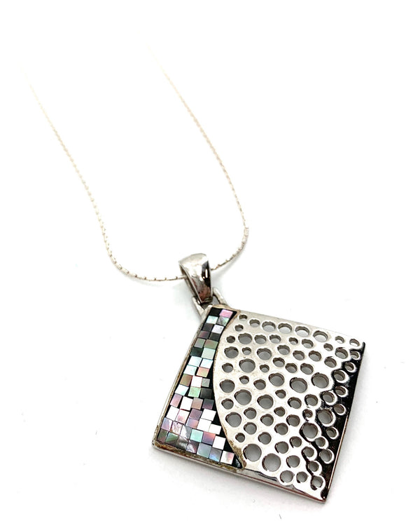 Sterling Silver Mosaic Pendant