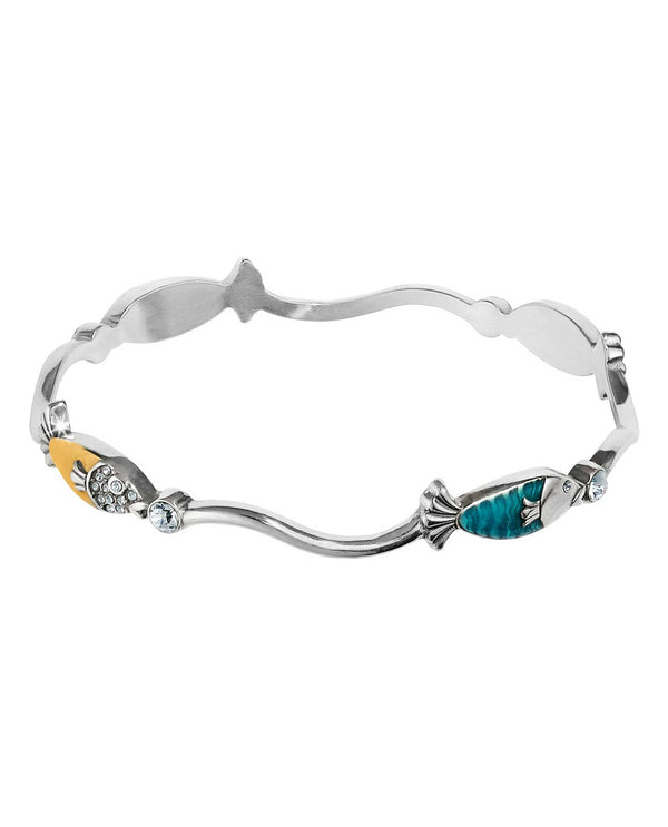Multi Brighton JF5923 Ocean Dream Bangle with colorful fish swimming around your wrist