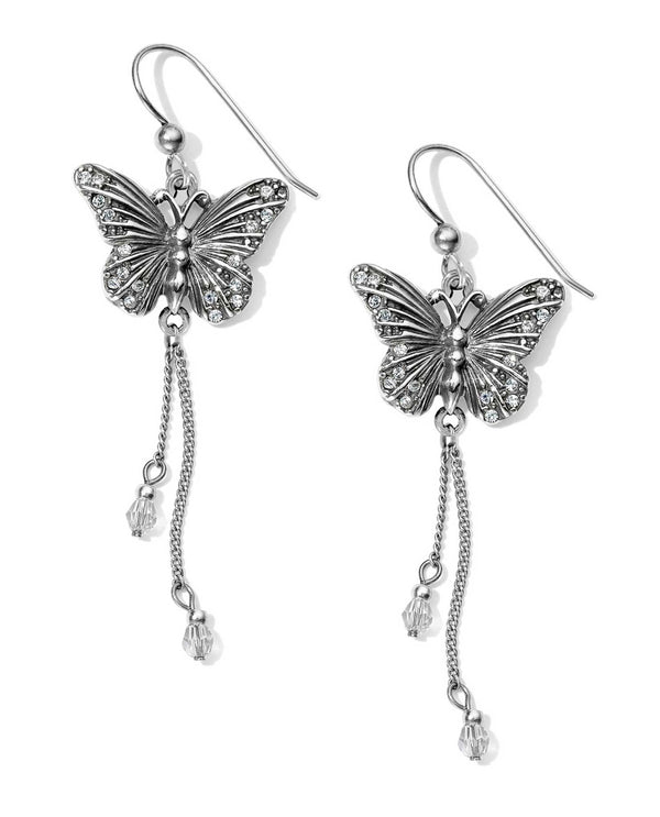 Silver Brighton JA4711 Solstice Butterfly Dangle French Wire Earrings with sparkling Swarovski