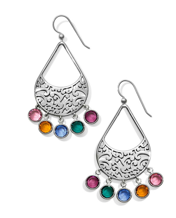 Multi Brighton JA4763 Elora Gems Drops French Wire Earrings with colorful Swarovski drops