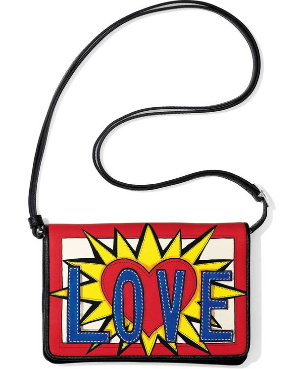 Brighton T4371M Love Burst Organizer in Multi features artwork by Tom Clancy with a heart exploding