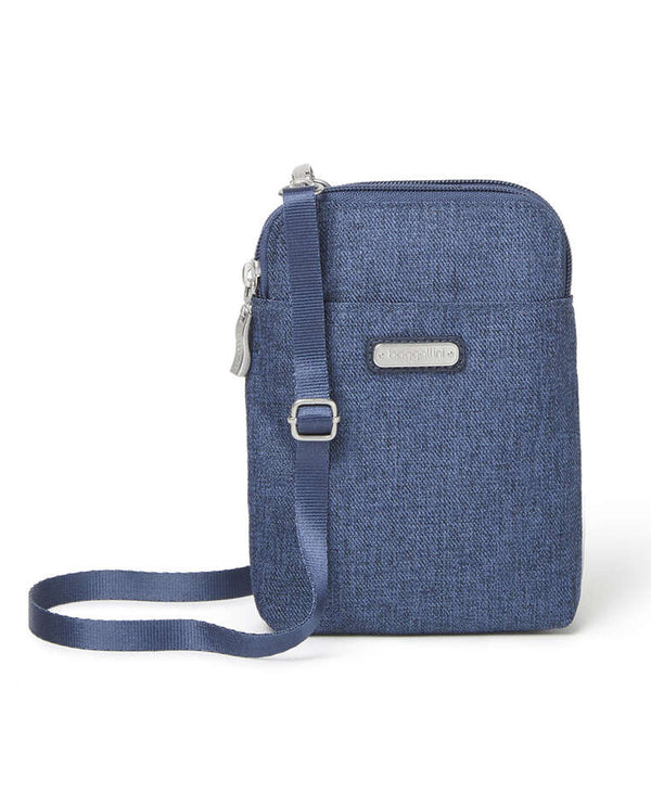 Baggallini TBR401 Take Two Bryant Crossbody Bag Steel Blue