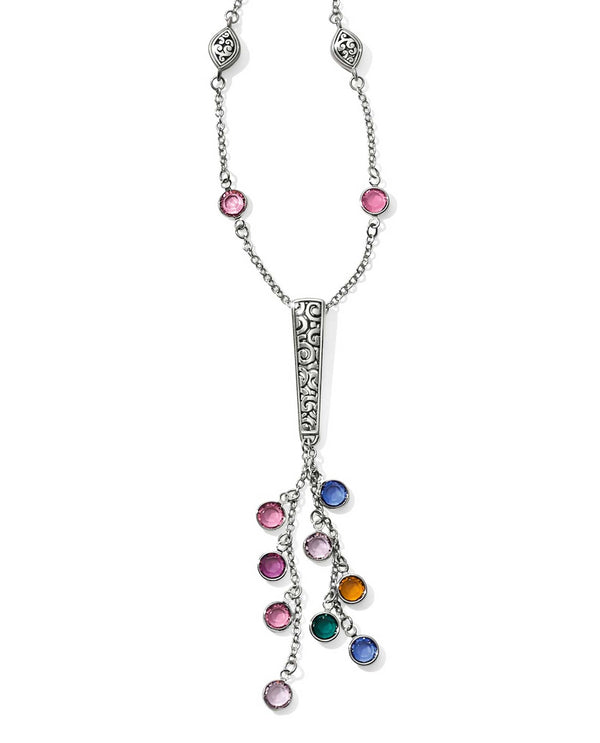 Multi Brighton JL9743 Elora Gems Y Necklace with drops of colorful Swarovski crystals