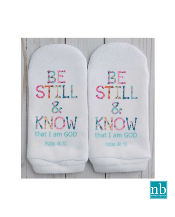 Standing On The Word PSALMS 46:10 Be Still & Know Sock