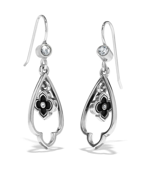 Black silver JA4810 Brighton Toledo Alto Noir French Wire Double Earrings with Swarovski crystals