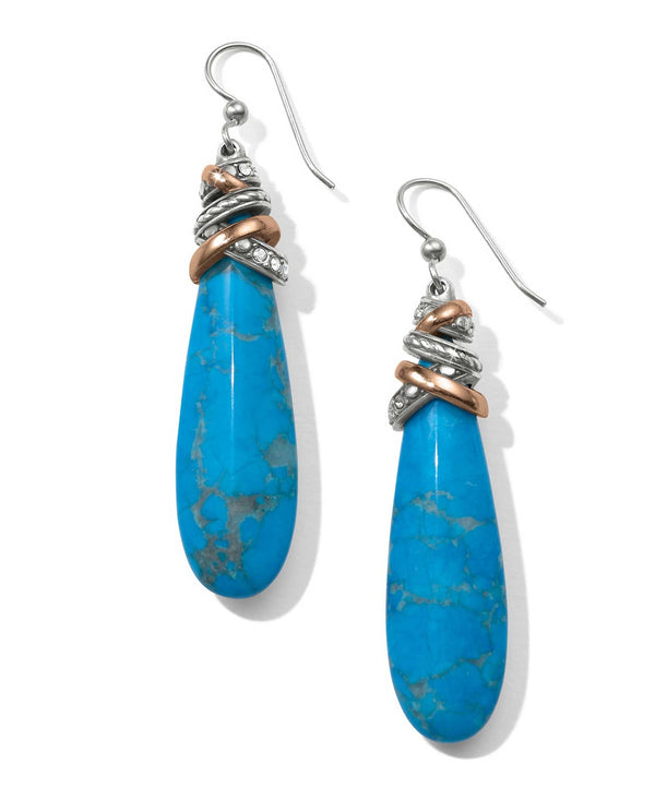 Blue Brighton JA405F Neptune's Rings Pyramid Turquoise French Wire Earrings