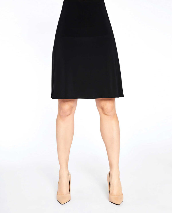 Black versatile Sympli 2675 Romance Mini Skirt made of wrinkle resistant jersey fabric