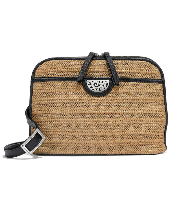 Black Brighton H73403 Jojo Straw Organizer is a perfect straw summer crossbody