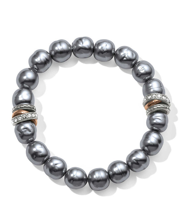 Grey Brighton JF540H Neptune's Rings Gray Pearl Stretch Bracelet with Japanese pearls