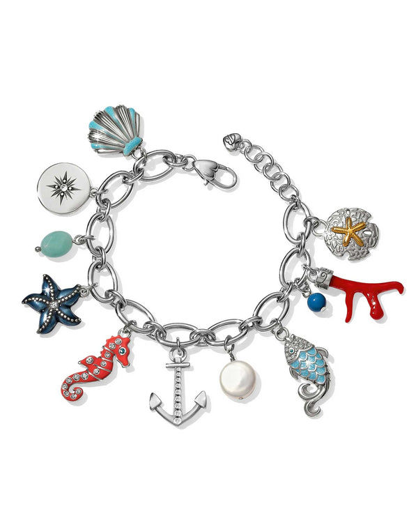 JF6073 Brighton Under The Sea Charm Bracelet includes several ocean charms and nautical charms