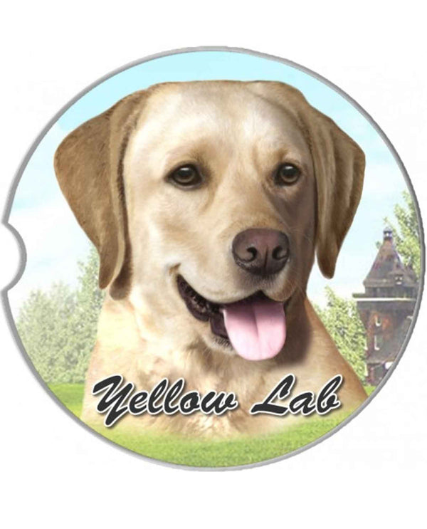 231-20 Yellow Lab Car Coaster