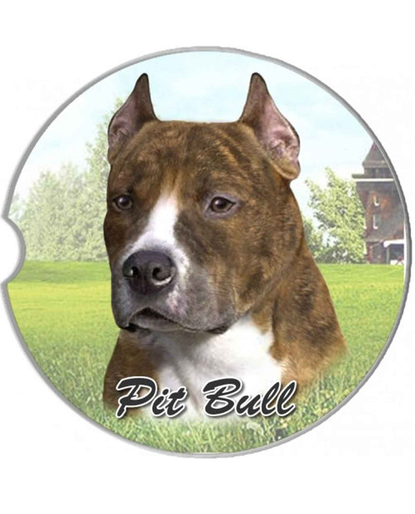 231-26 Pit Bull Brindle Car Coaster
