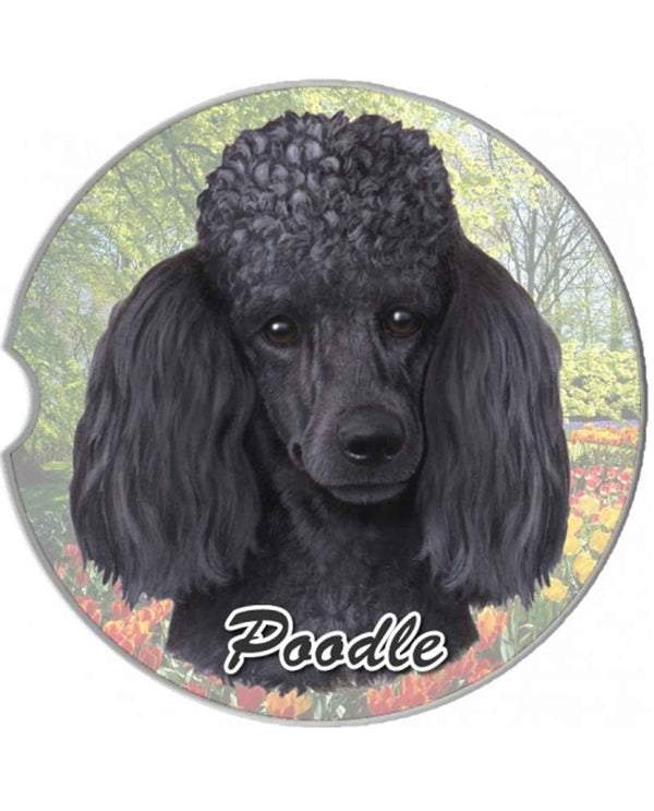 231-29 Black Poodle Car Coaster