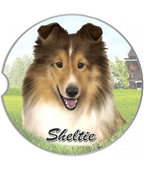 231-37 Sheltie Dog Car Coaster