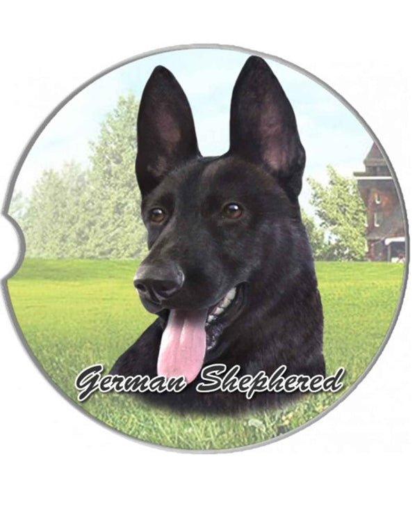 231-75B Black German Shepherd Car Coaster
