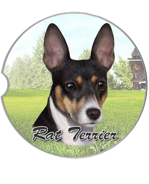 231-92 Rat Terrier Car Coaster