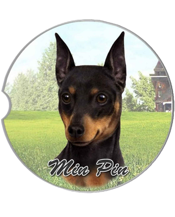 231-98 Miniature Pinscher Car Coaster