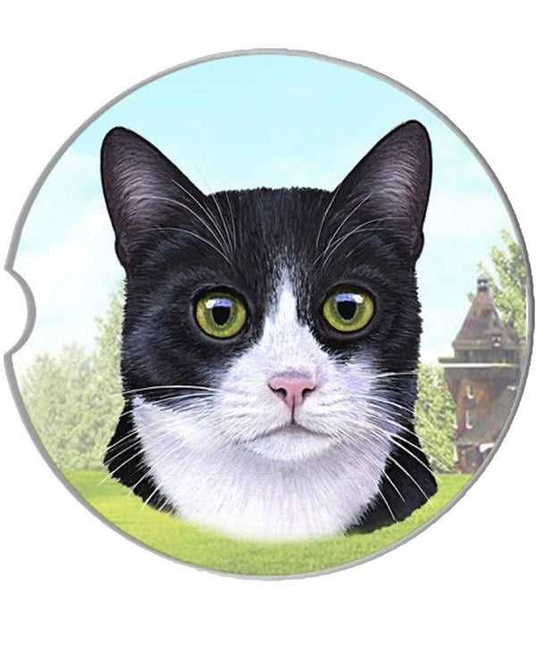 232-3 Black & White Cat Car Coaster