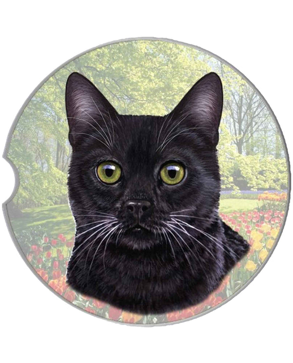 232-5 Black Cat Car Coaster