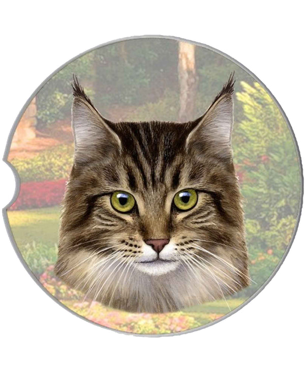 232-6 Maine Coon Cat Car Coaster