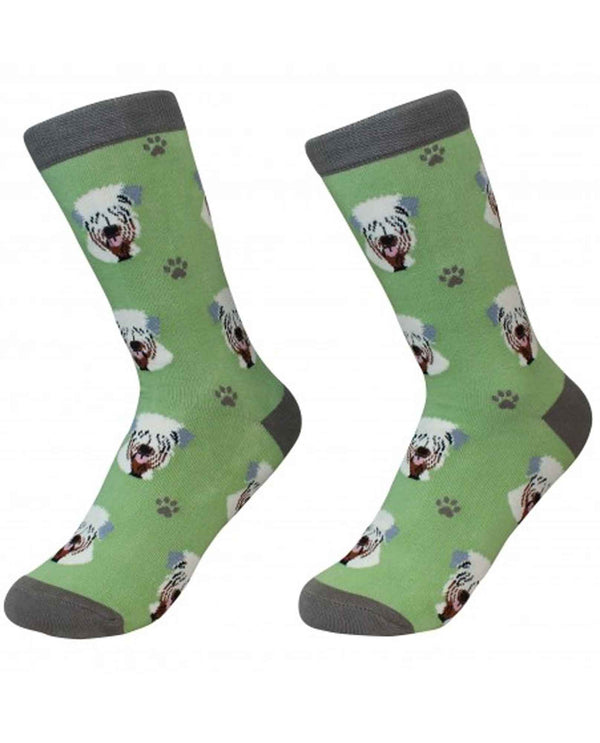 800-41 Wheaten Terrier Dog Socks green cotton socks for women with Wheaten Terrier faces