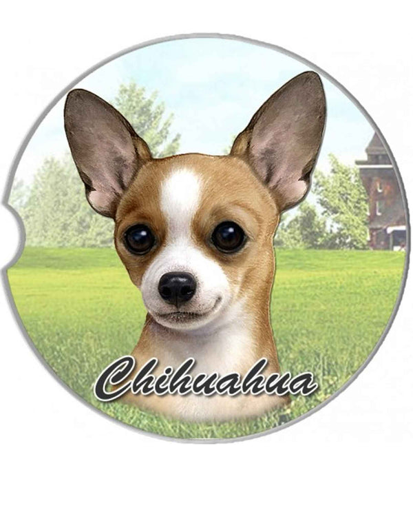 231-10 tan Chihuahua Car Coaster