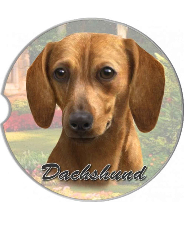 31-13 red Dachshund Car Coaster