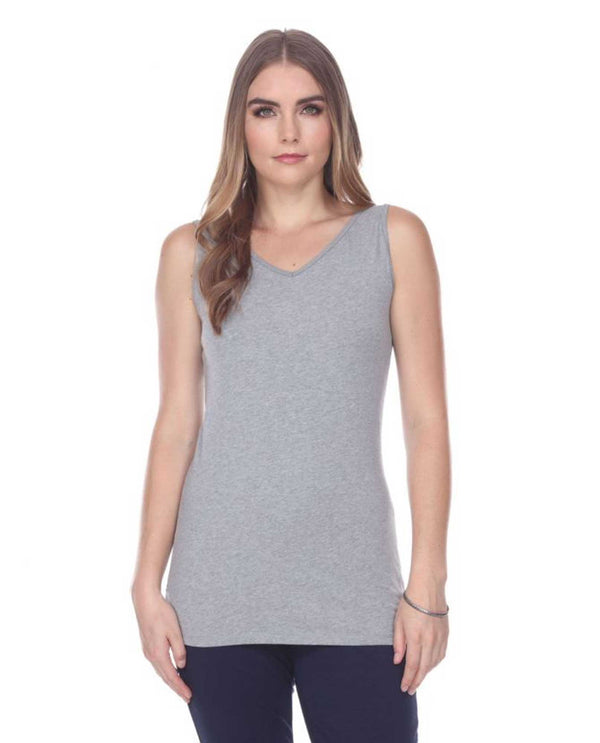 SPORTY GREY N5 Neon Buddha Wear Two Ways Sunburst Tank basic black tank top v-neck or crew neck