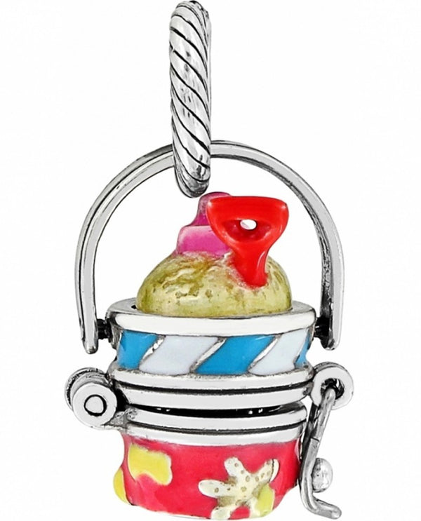 Brighton JC0543 Beach Pail Charm filled with sand and shovel for summer