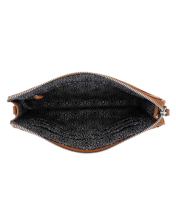 E5278M Brighton Africa Stories Pouch exotic leather pouch with zippered closure
