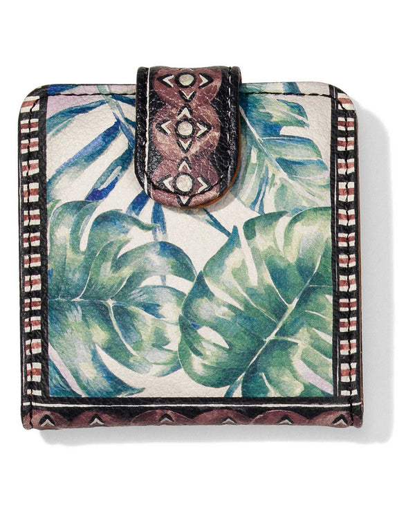 G8272M Brighton Africa Stories Snappy Mirror leather compact mirror with exotic jungle design
