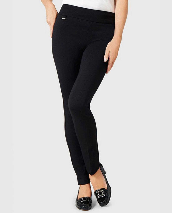 "53105 Lisette 31"" Slim Pant smooth black pants for women made with luxurious material"