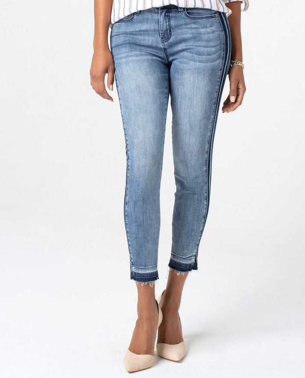 LM7136TT Denim Liverpool Abby Crop Skinny Jeans with recovery technology to keep you comfy
