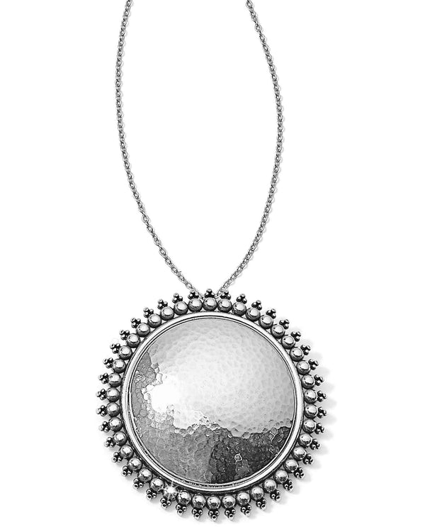 Brighton JM0350 Telluride Round Necklace long silver necklace with round pendant