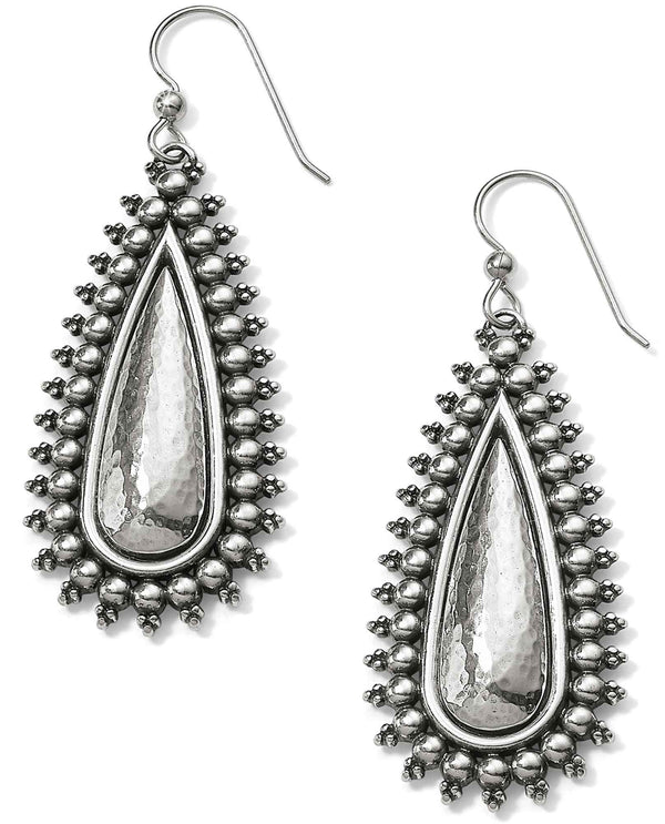 Brighton JA5080 Telluride Teardrop French Wire Earrings silver boho teardrop earrings