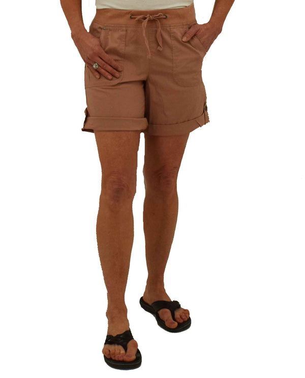 Dash Clothing DA2140 Margarita Bermuda Shorts blush pink Bermuda shorts for women