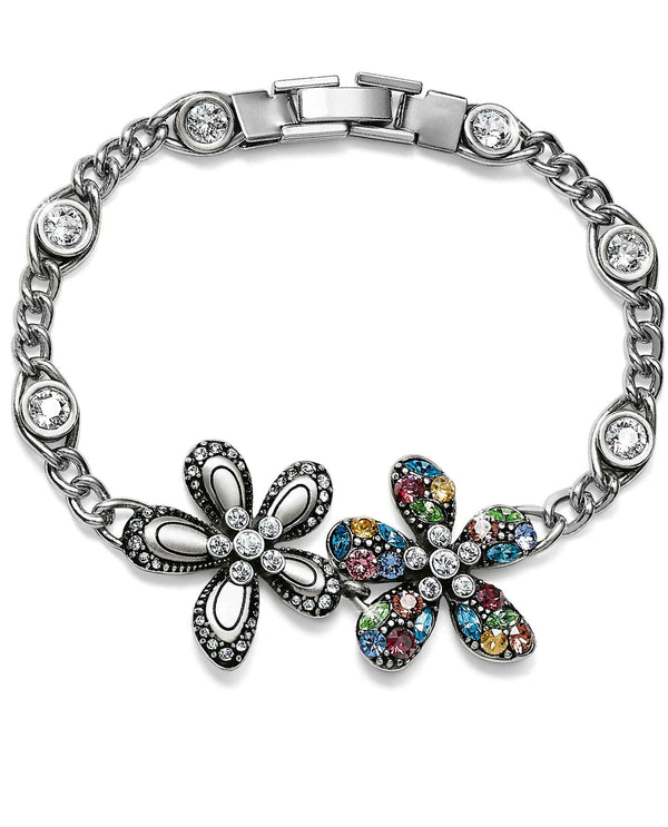 Brighton JF6293 Trust Your Journey Flower Bracelet with colorful Swarovski crystals