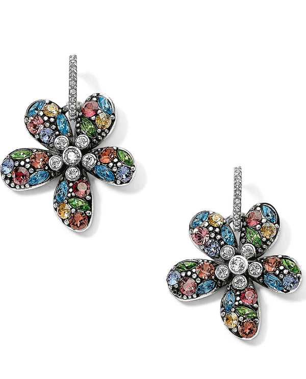 Brighton JA5163 Trust Your Journey Flower Reversible Earrings with multi-colored Swarovski