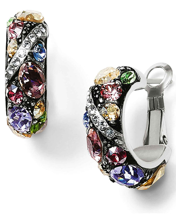 Brighton JA4772 Trust Your Journey Hoop Earrings colorful Swarovski crystal hoop earrings