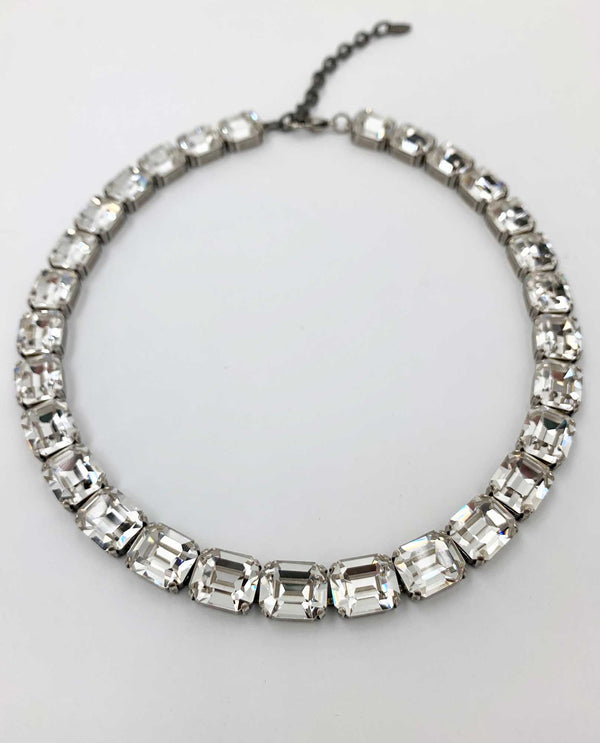 Oleana Octagon Necklace By Rachel Marie Designs clear