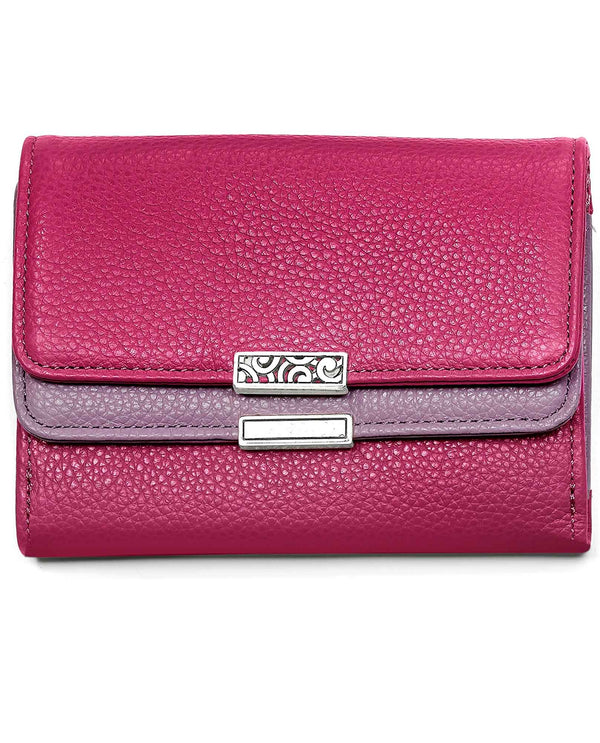 Punch Wisteria Brighton T2243P Barbados Double Flap Medium Wallet hot pink leather wallet
