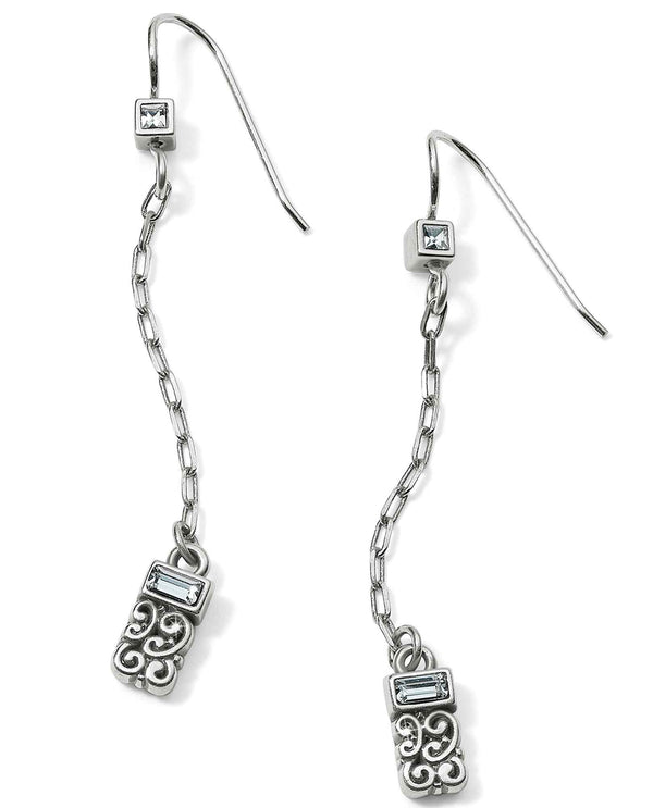 Brighton JA5121 Baroness Petite Drop French Wire Earrings delicate silver drop earrings