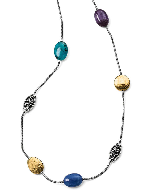 Brighton JL8542 Mediterranean Multi Long Necklace long layering necklace with colorful stones