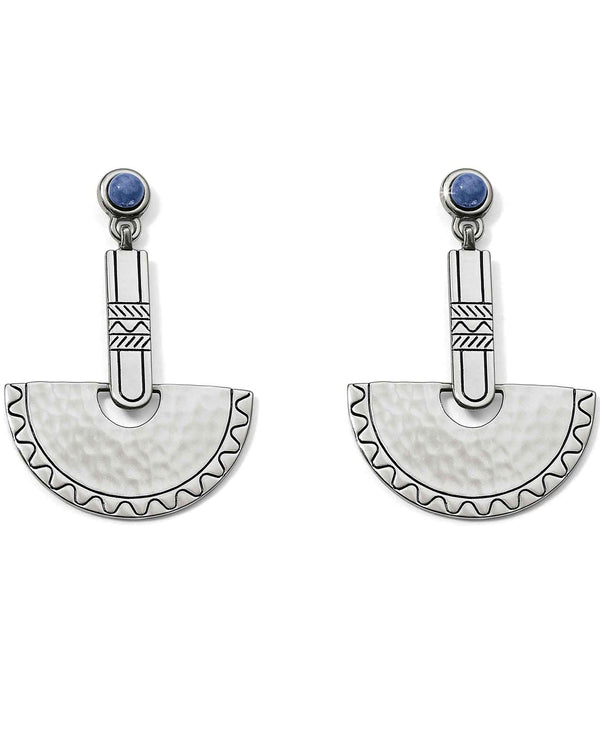 Brighton JA5042 Marrakesh Mirage Bar Post Drop Earrings geometric earrings with blue sodalite