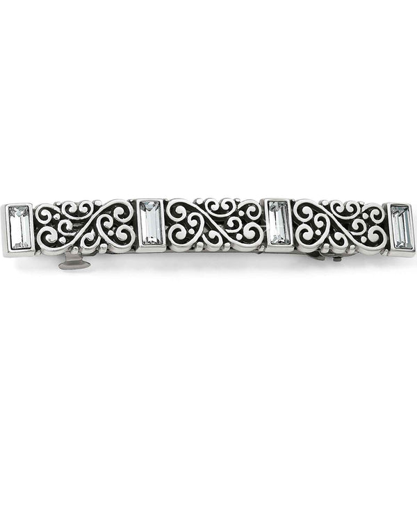 Brighton J82321 Baroness Barrette silver barrette for hair with Swarovski crystals